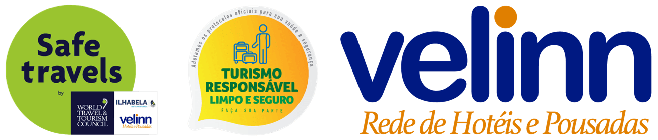 Selo Safe Travel Turismo Responsável Velinn Ilhabela
